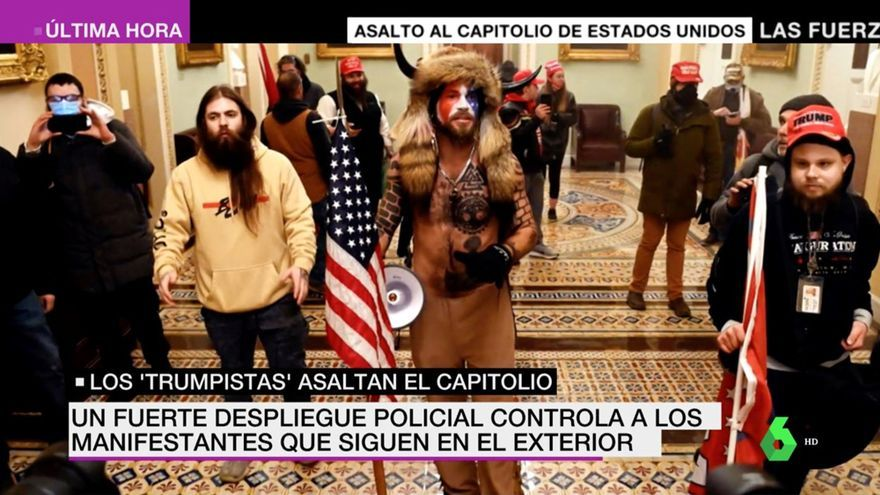 Imagen del 'Especial Asaltan el Capitolio' de laSexta Noticias