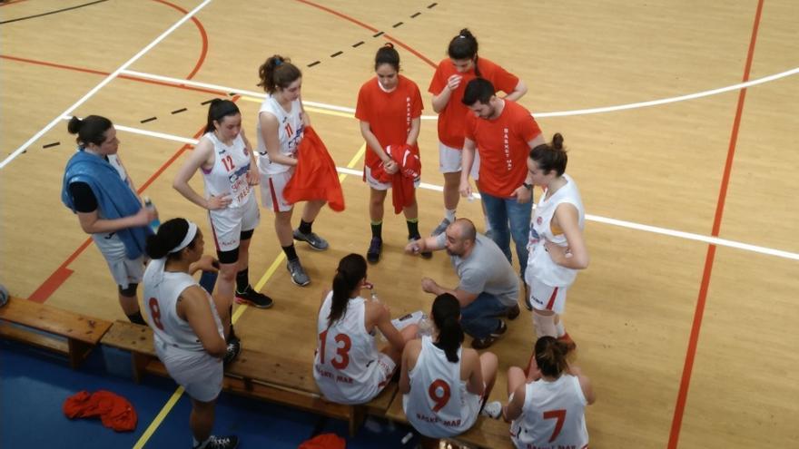 El equipo Basket Mar Gijón durante un partido / Foto cedida