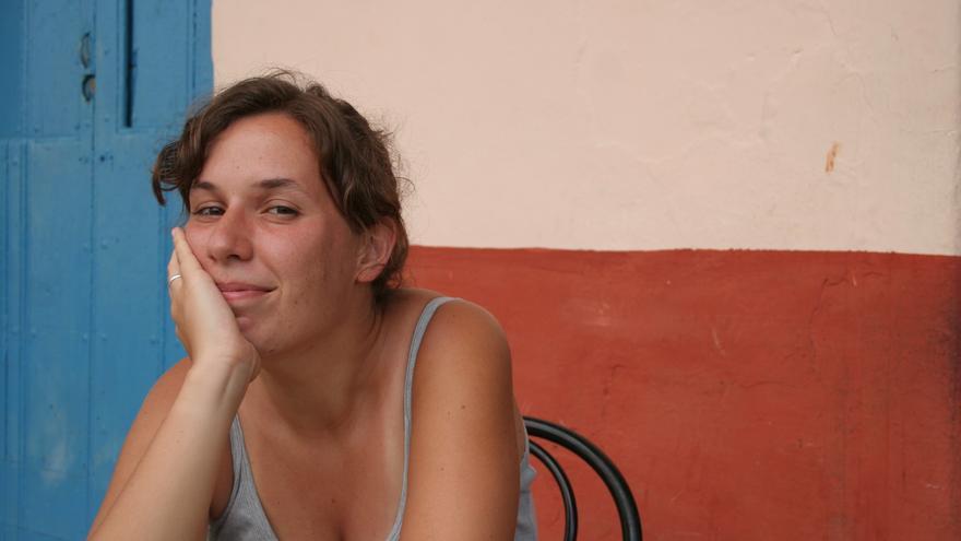 Marina Rodríguez Baras en un viaje
