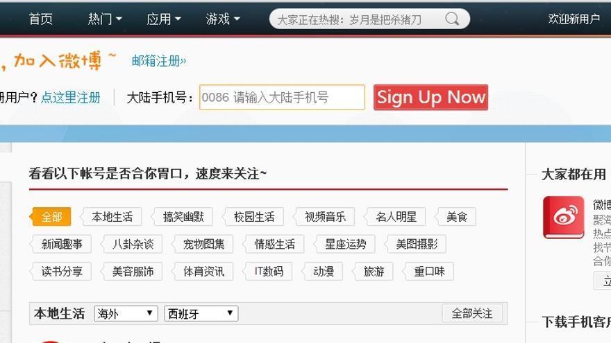 Weibo, el Twitter chino con censura por palabras
