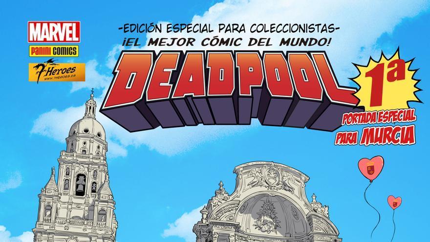 Portada de Deadpool realizada por Salva Espín ambientada en Murcia