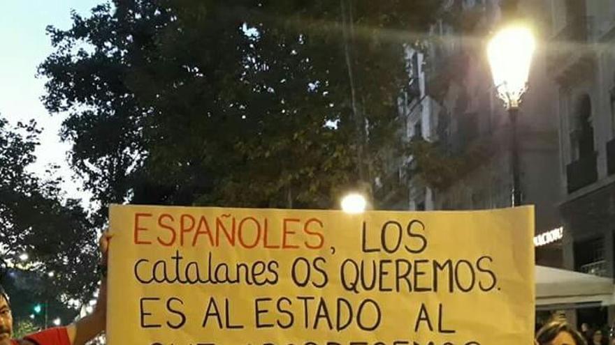 Manifestación en Catalunya