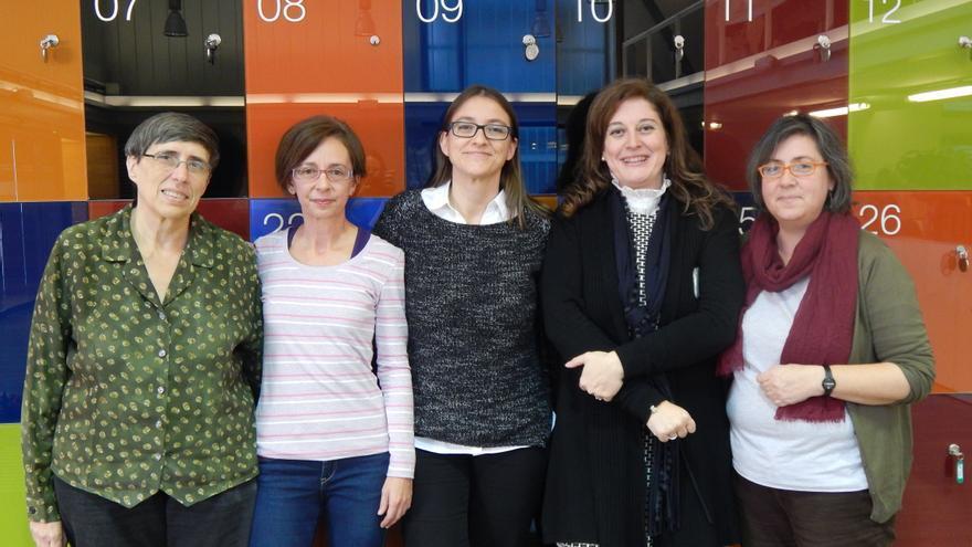 Las bibliotecarias de la Biblioteca Regional Joaquín Leguina