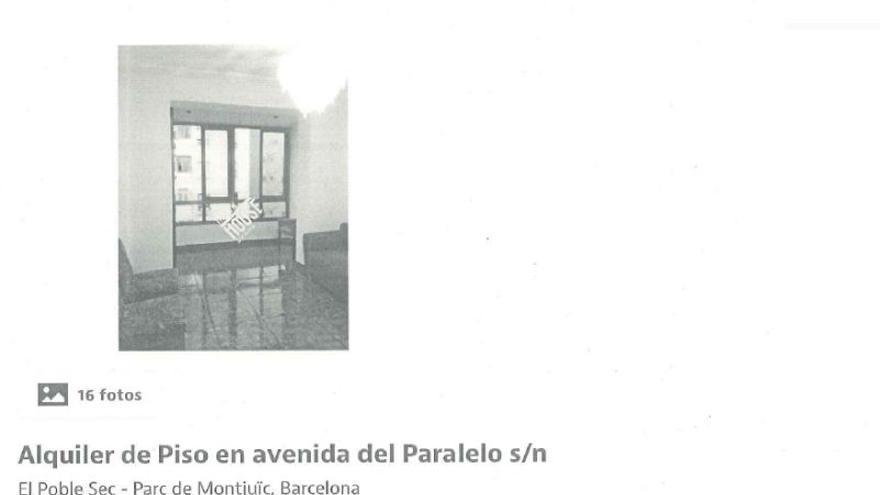 Anuncio de The New House en Idealista en el que se alquila un piso solo a españoles
