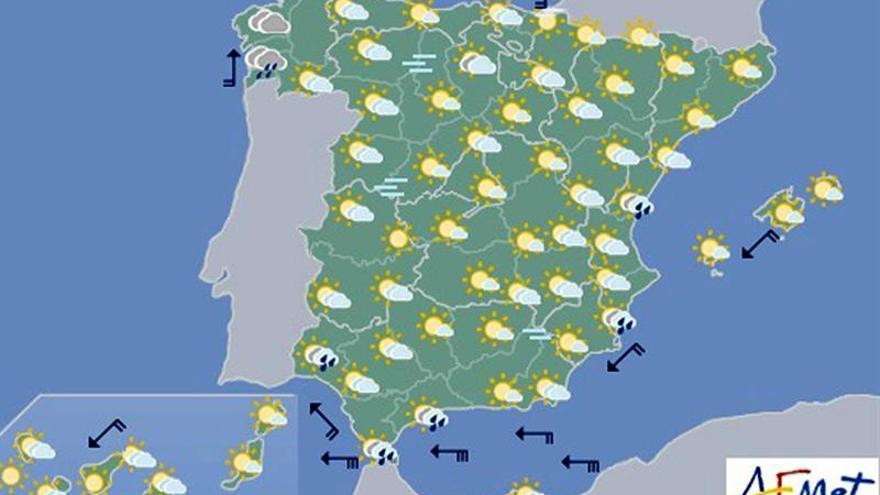 Hoy crecerá la nubosidad por el oeste y subirá la temperatura en el norte