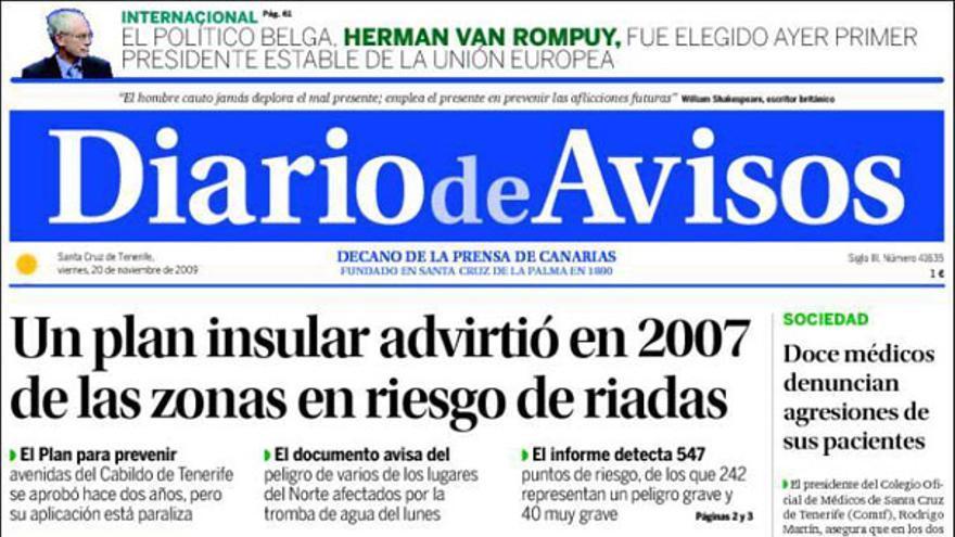 De las portadas del día (20/11/2009) #9