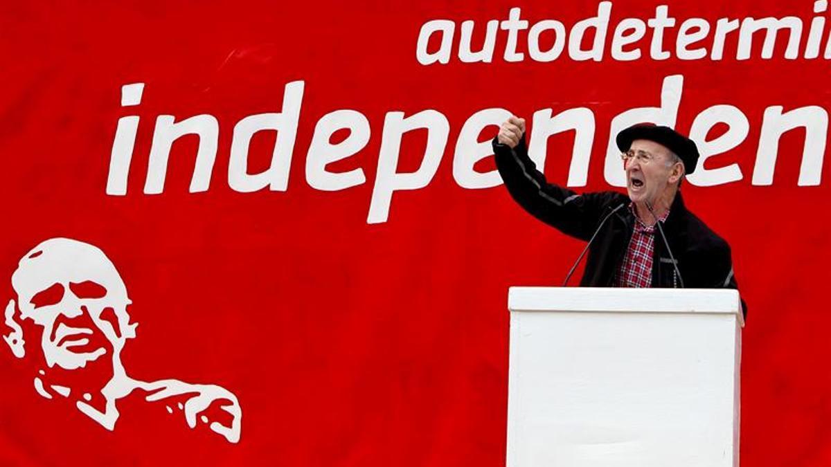 El ex dirigente de la izquierda abertzale Tasio Erkizia, en un acto.
