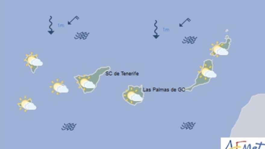 Mapa de la previsión meteorológica para el viernes 18 de noviembre