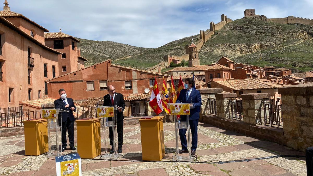 Reunión de los presidentes de Aragón, Castilla La Mancha y Castilla y León en Albarracín