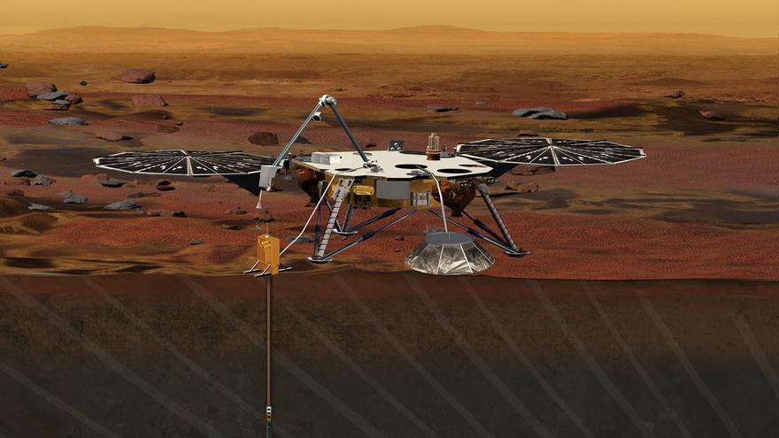 La misión Insights contará con un brazo robótico para desplegar los instrumentos