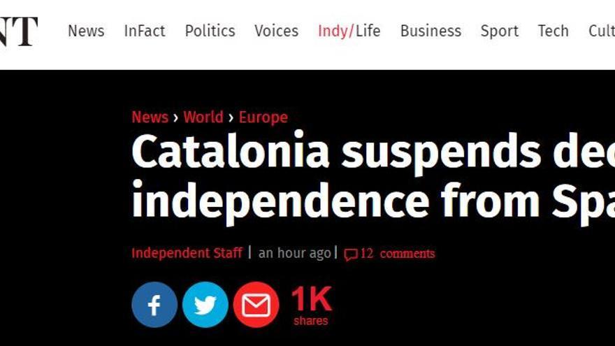 Noticia de The Independent