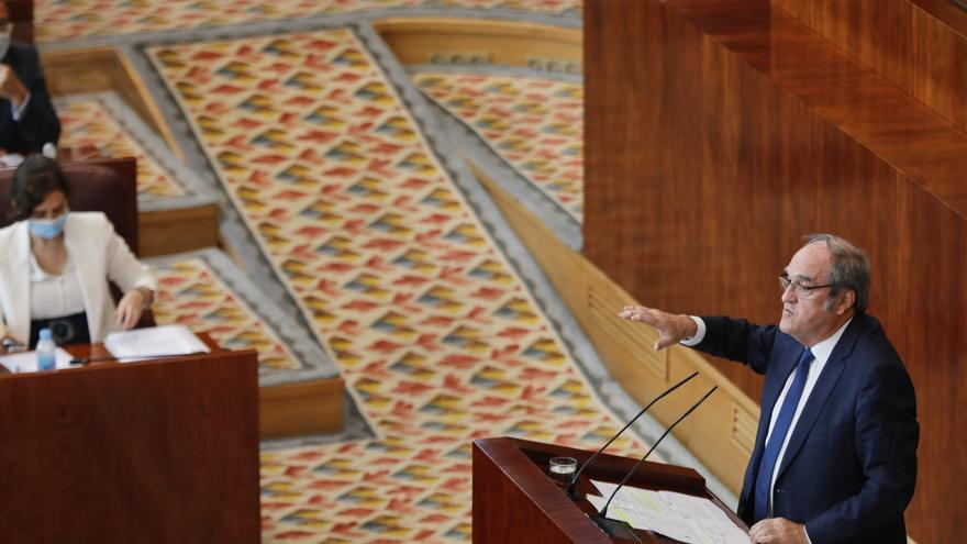 El portavoz del PSOE en la Asamblea de Madrid, Ángel Gabilondo, interviene durante la segunda jornada del Pleno del Debate del Estado de la Región en Madrid (España), a 15 de septiembre de 2020. En esta segunda sesión participarán los grupos parlamentario