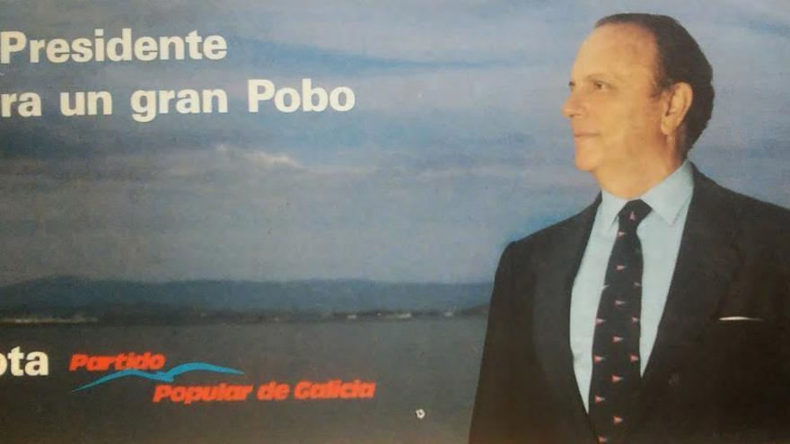 Manuel Fraga, en un cartel de campaña de 1989