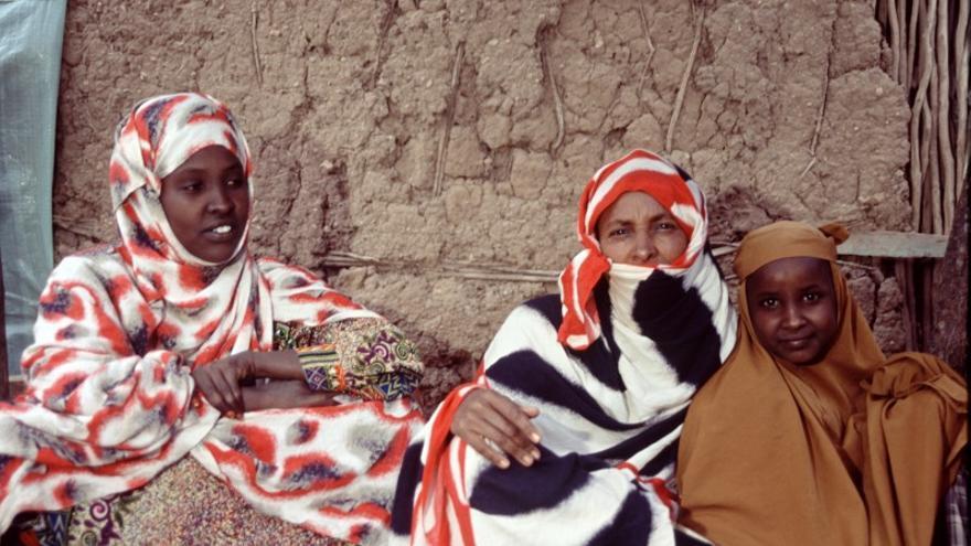Participantes en un proyecto humanitario en la región de Somali, Etiopía. Imagen de Héctor Mediavilla, Oxfam Intermón.