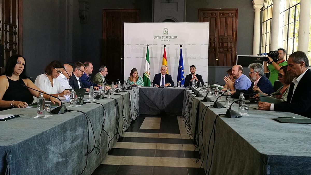 Primera reunión del Consejo de la Memoria Histórica y Democrática de Andalucía, en octubre de 2018.