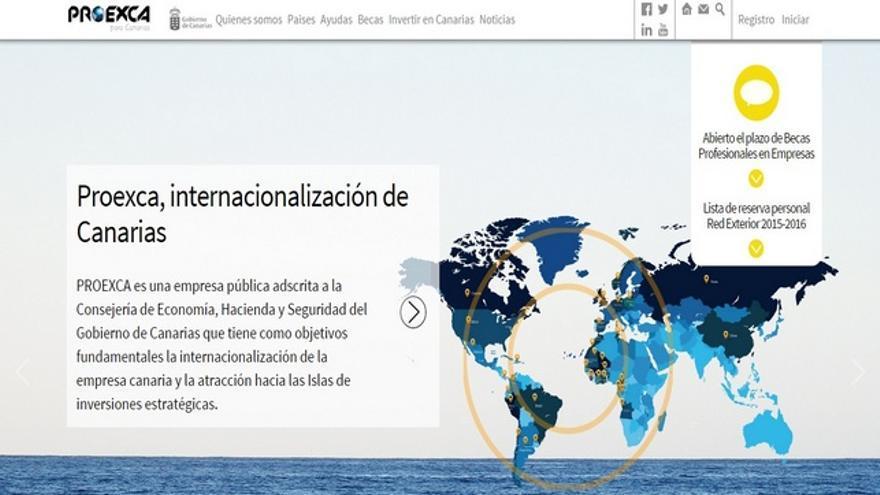 Web de Proexca.