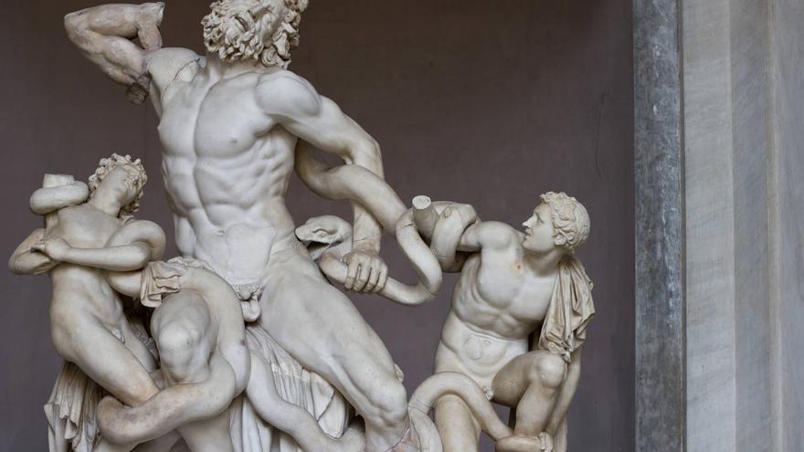 El Laocoonte, obra maestra de la escultura clásica que se encuentra en los Museos Vaticanos.