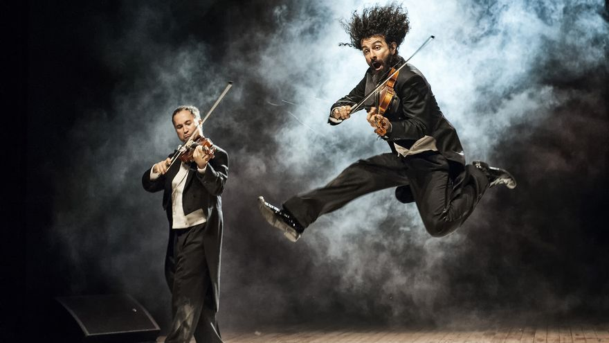 El violinista libanés Ara Malikian durante un concierto.