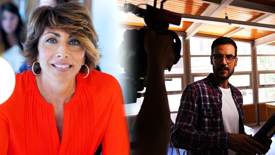 Mamen Asencio, y Daniel Grao en la serie 'HIT'