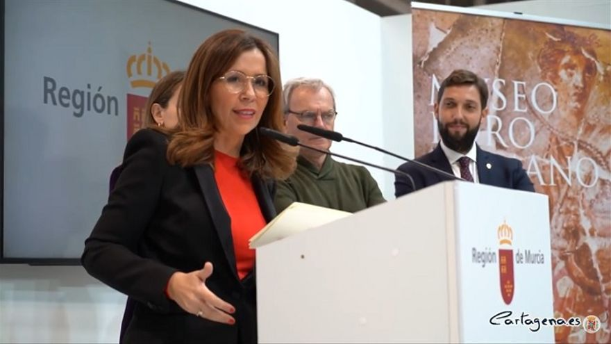Ana Belén Castejón, alcaldesa de Cartagena, durante Fitur 2020