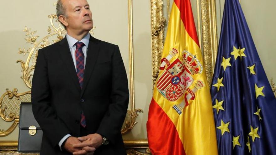 El nuevo ministro de Justicia, Juan Carlos Campo, en su toma de posesión.