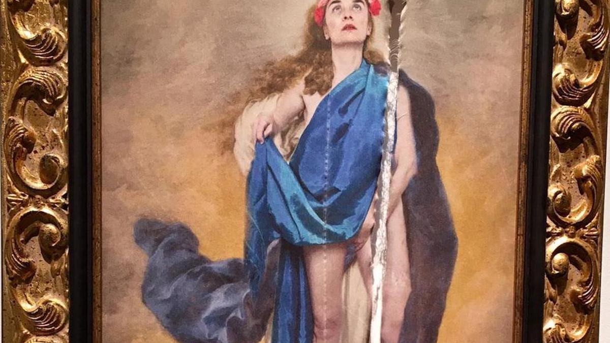 Imagen de la obra que fue rajada en la Diputación.
