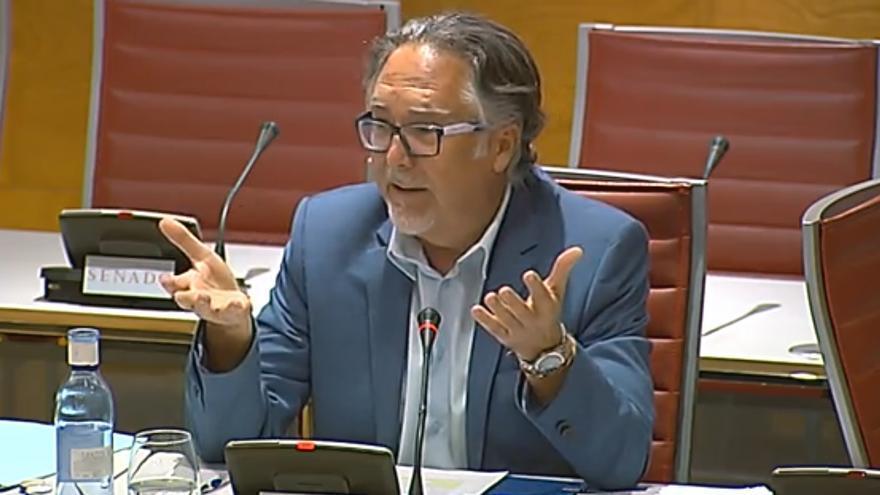José Ramón Tíller durante su comparecencia en el Senado