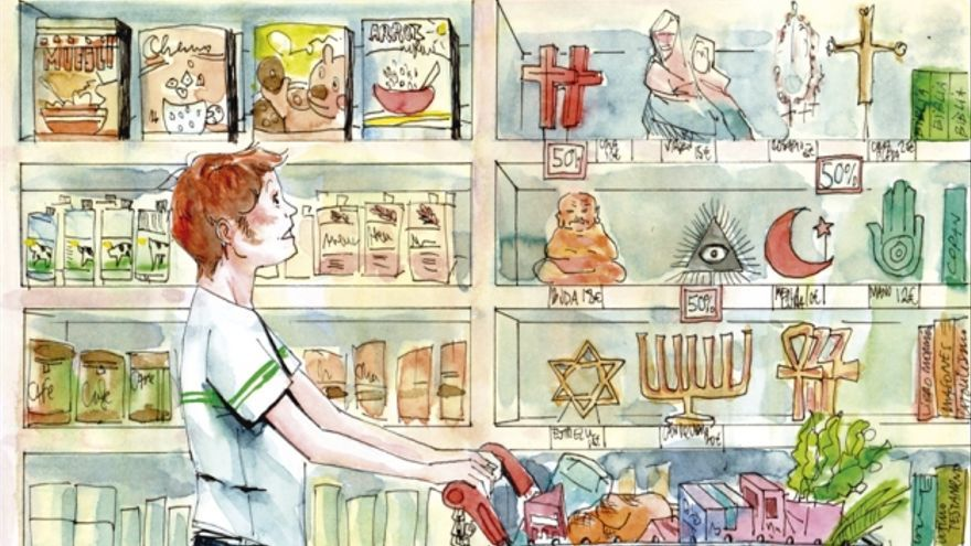 Dibujo supermercado