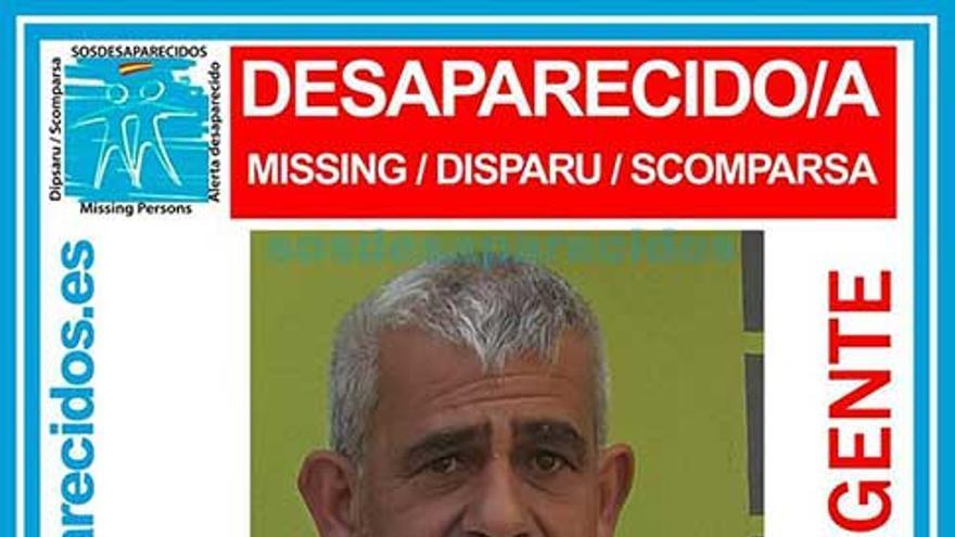 Manuel Marcos García, en el anuncio de que había desaparecido