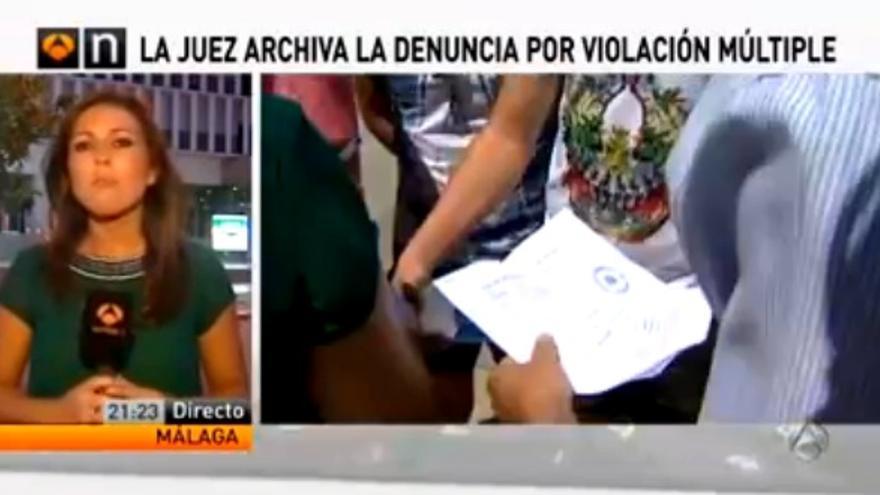 Cobertura mediática del caso de la violación múltiple en Málaga.