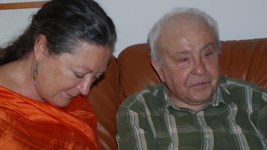 Lorenzo García Vega y elsa López en Miami en 2008.