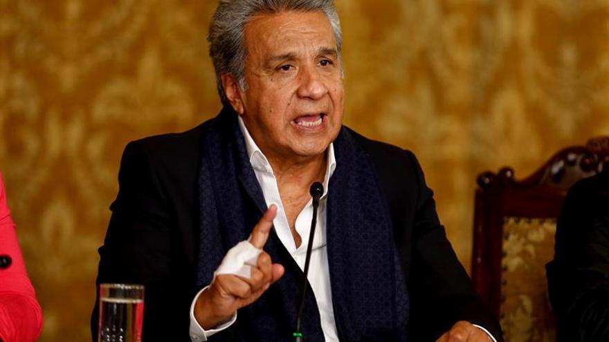 """El presidente Lenín Moreno dice que """"no volverán ya los viejos políticos"""""""