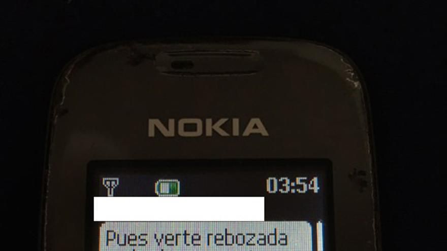 "Imagen del SMS: ""Verte rebozada en harina promete"""