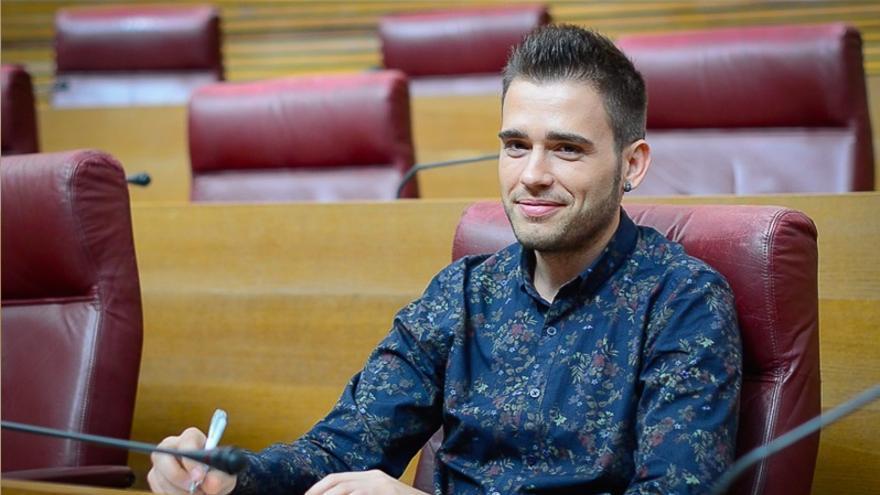 Fran Ferri, diputat de Compromís, en les Corts Valencianes.