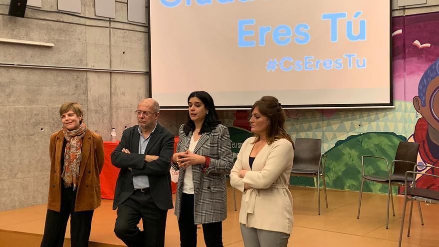 Francisco Igea este jueves en su encuentro con los afiliados de Santiago de Compostela