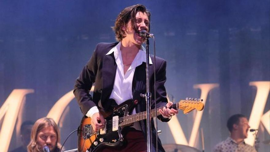 Alex Turner, cantante de Arctic Monkeys, durante el Mad Cool 2018