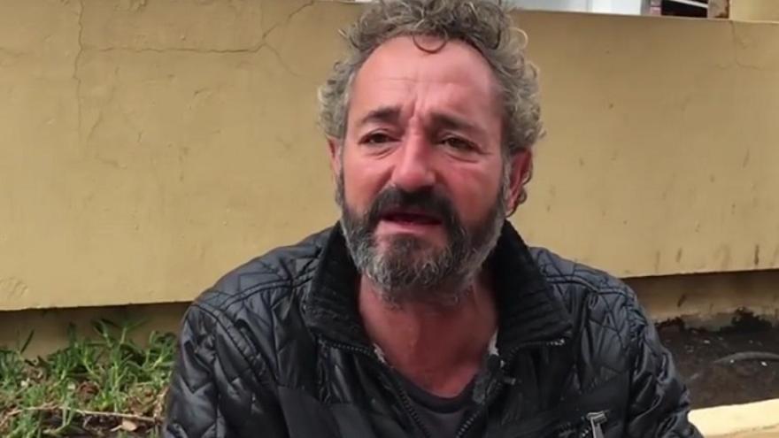 José Antonio, vive en la calle desde hace años.