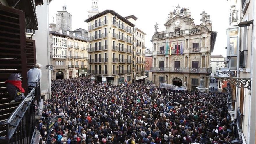 Pamplona vuelve a movilizarse contra la Manada en desacuerdo con la sentencia