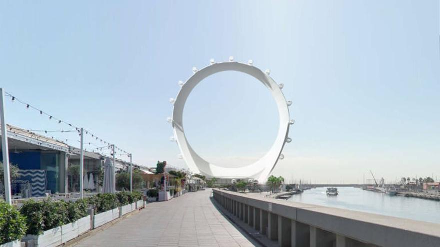 Imagen virtual del proyecto para la Marina de València