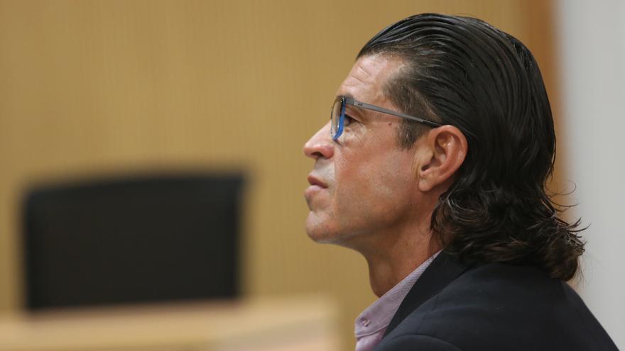 El subinspector de la Policía Canaria Carmelo Martín S.D. en un momento del juicio.
