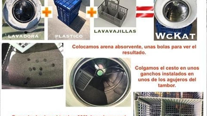 Material reutilizado para mejorar y modernizar las colonias felinas. Foto: Llobregats.com