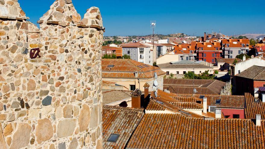Tejados de Ávila desde las murallas medievales.