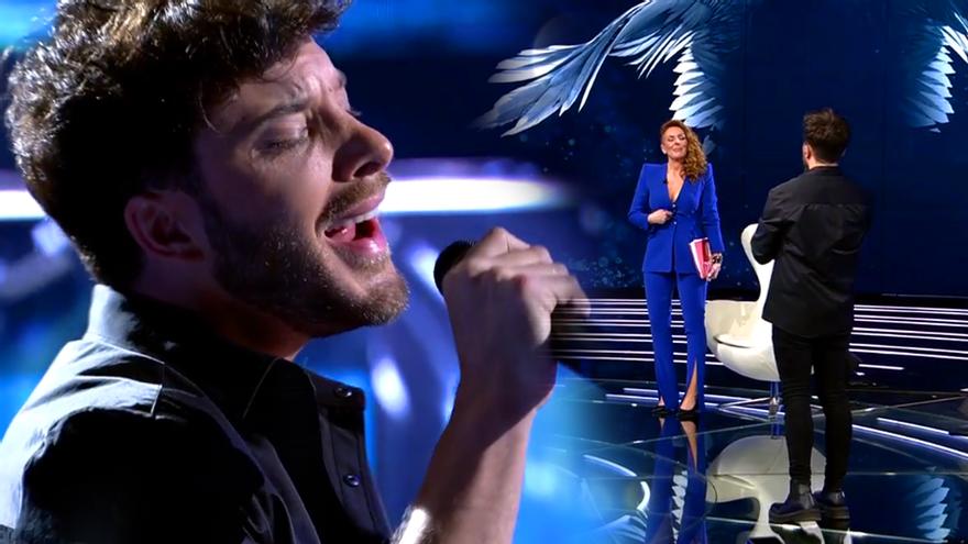 """Así fue la emotiva actuación de Blas Cantó, con mensaje a Rocío Carrasco: """"Yo sí te creo"""""""