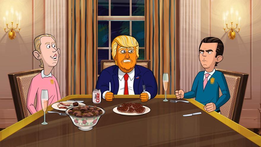 El Trump más salvaje (y naranja) protagoniza la segunda temporada de 'Animado presidente'.