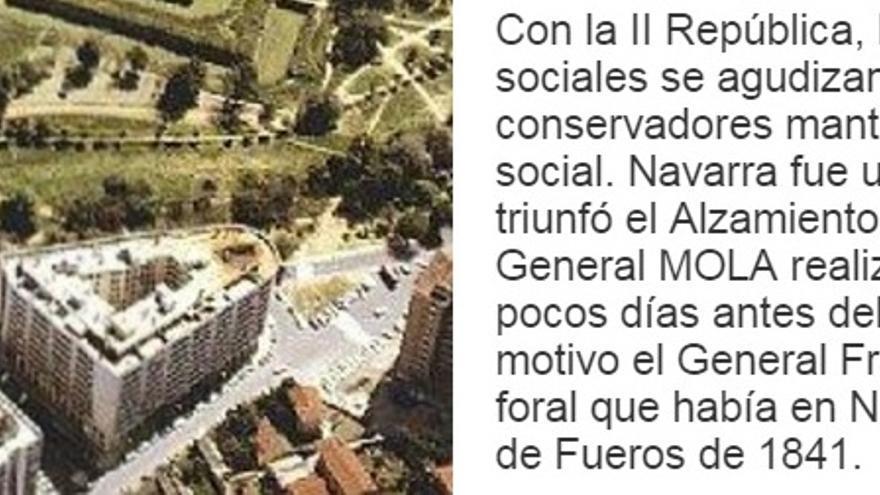 """Imagen de la web del Ministerio de Defensa en la que se refiere al golpe de Estado de Franco como """"el Alzamiento"""""""