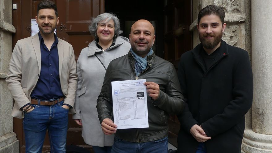 Registro de la candidatura de Unidas Podemos-Equo para el 26M