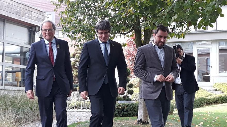 Puigdemont y Torra anuncian la inauguración del Consell de la República el 30 de octubre en el Palau de la Generalitat