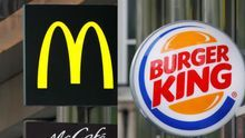 Logotipo de las marcas McDonald's y Burger King