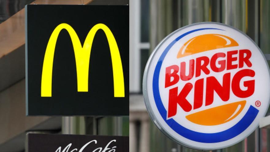 Logotipo de las marcas McDonald's y Burger King