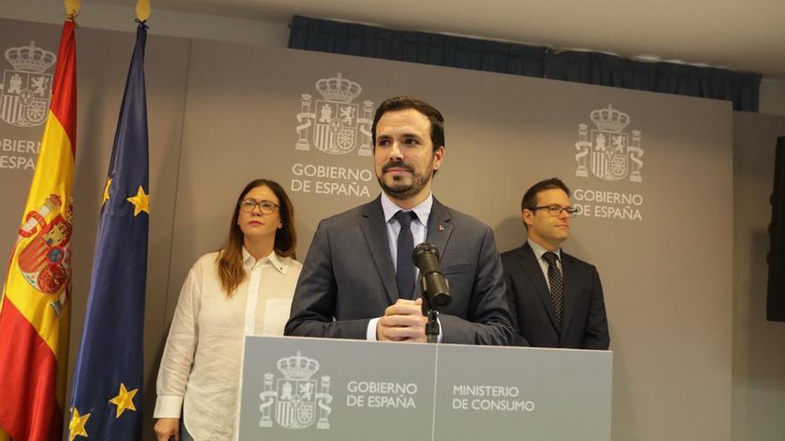 Alberto Garzón, este viernes en el Ministerio de Consumo.